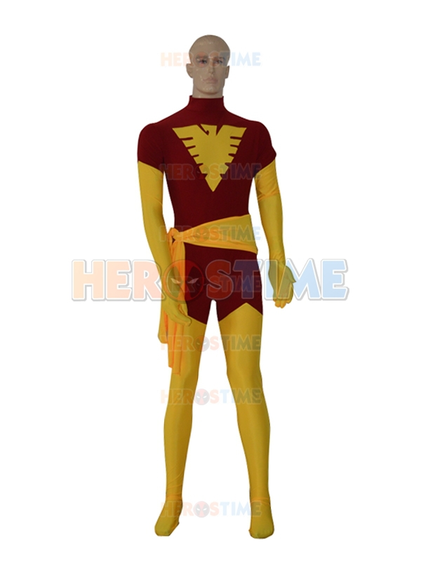 X-Men costume Halloween Cosplay Lycra Spandex X-men Phoenix Costume Fullbody Superhero Zentai Suit Hot Sale