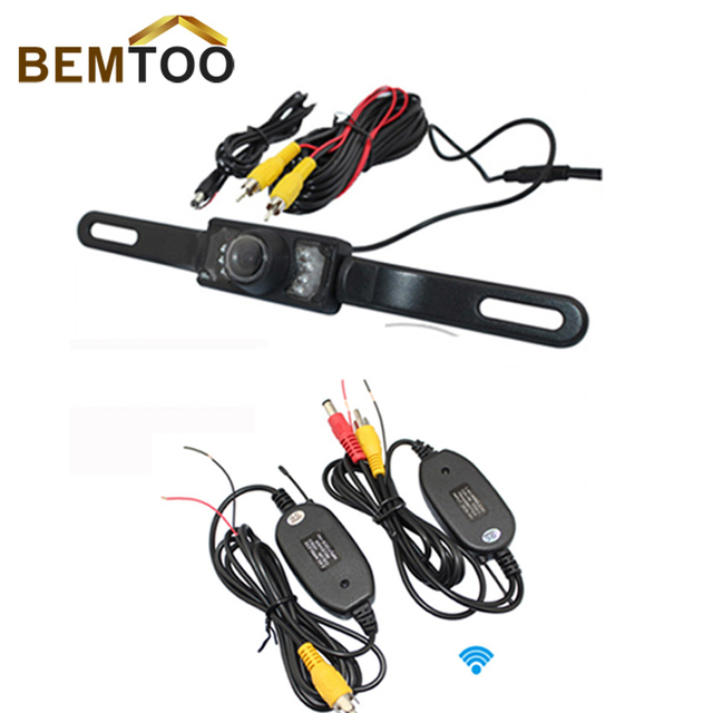 BEMTOO 2.4G Wireless License Plate Frame Waterproof night vision Car Rear View Reversing Camera,Free Shipping