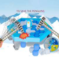 Mini Ice Breaking Save The Penguin Trap Toys Set For Kids Gifts Children Table Games Gag