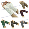 New Fashion Women Knitted Fingerless Winter Gloves Unisex Soft Warm Mitten 7 Color
