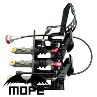 MOFE High Quality Products 0.625 inch Pedal Box Floor Mounted Hydraulic Clutch With Balance Dash Adjuster+3 Plastic oil tank
