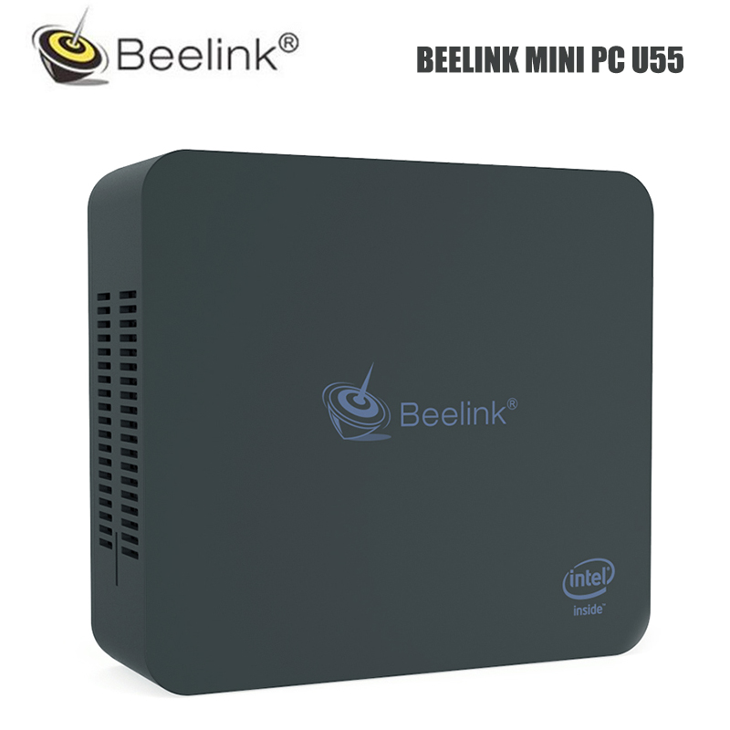 CAIXA de TV Beelink U55 Mini PC Intel Core 8 GB 512 GB I3-5005U Intel HD Graphics 5500 2.4G 5.8G Wi-fi 1000 Mbps BT4.0 10 Janelas CAIXA de TV