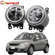 Cawanerl Per Suzuki SX4 (EY, GY) 2006-2014 Car Styling 4000LM HA CONDOTTO LA Lampadina H11 Luce di Nebbia + Occhio di Angelo DRL 12 v Alto Luminoso 2 pezzi