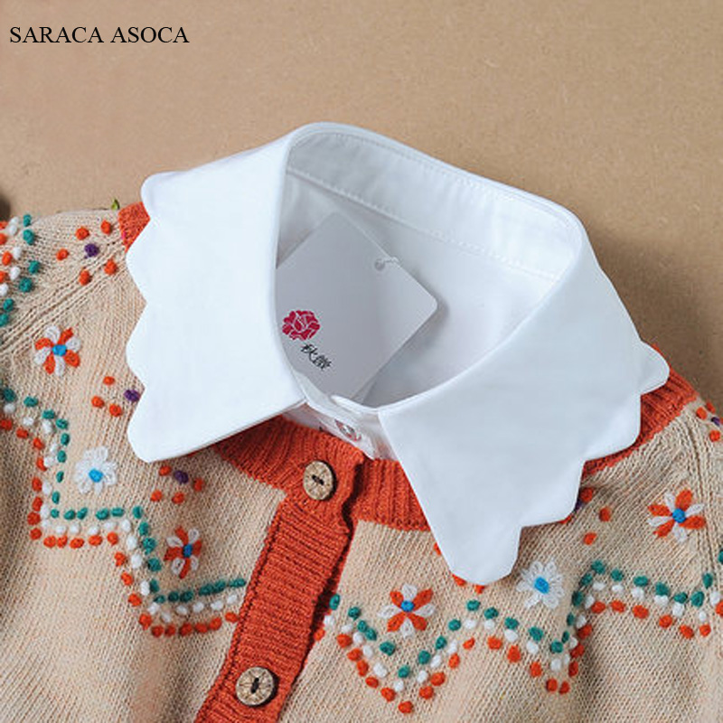 New Fashion Cotton False Collar Female All-match Solid Shirt Fake Collar For Women A67