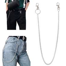 Long Metal Wallet Chain Leash Pant Jean Keychain Ring Clip Men's Hip Hop Jewelry(China)
