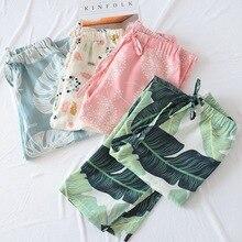 Женская одежда, пижамные штаны, хлопковые Пижамные штаны для женщин, высокая плотность, марлевая ткань, домашние брюки, одежда для сна, женские штаны