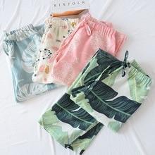 Women's Clothing Pijama Pants Cotton Pajama Pants Women High