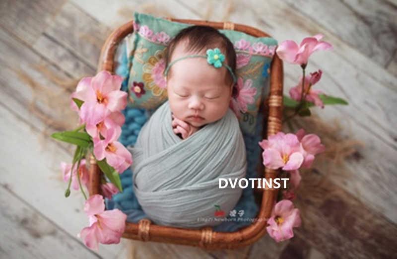 Dvotinst Fotografia Bebê Recém-nascido Adereços Retro Tecer Rattan Cesta 0-1 Mês Acessório de Tiro Estúdio de Fotografia Foto Props