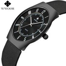 JAPAN Quartz Watch Casual Ultra thin Wristwatch Business Brand Mesh Straps Analo