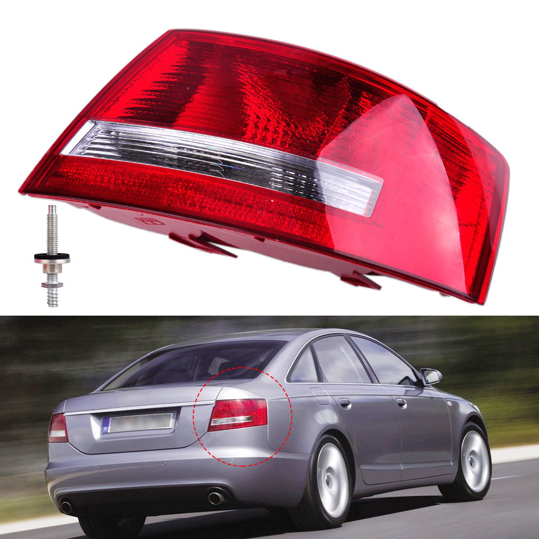4F5 945 096 L 4F5 945 096 D Right Tail Light Assembly Lamp Housing without Bulb for Audi A6 A6 Quattro 2005 2006 2007 2008 Sedan free shipping for skoda octavia sedan a5 2005 2006 2007 2008 right side rear lamp tail light