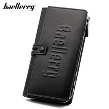 BAELLERRY Men's Wallet Long Design Wallets Man Hasp Clutch Purse PU Leather Wallet Male Carteira Cards Phone Holder HQB1892-in Wallets from Luggage & Bags on Aliexpress.com | Alibaba Group