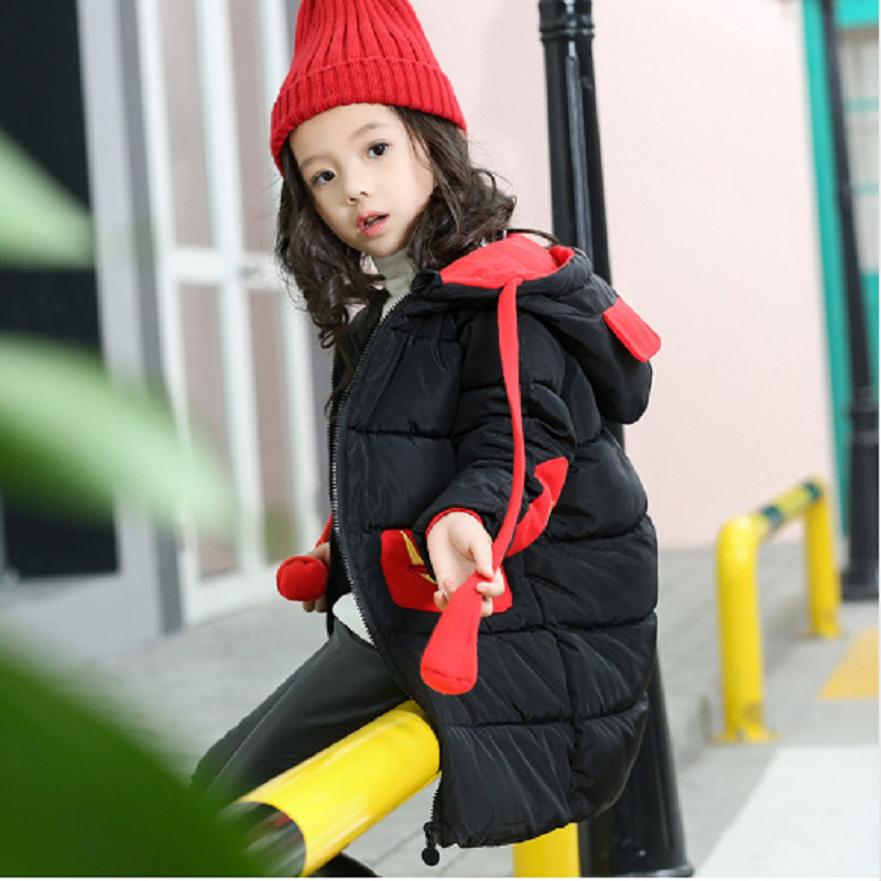 Girl's cotton jacket children's clothing cotton thickening baby girls cotton clothing children's clothing 2018 winter new MF-312