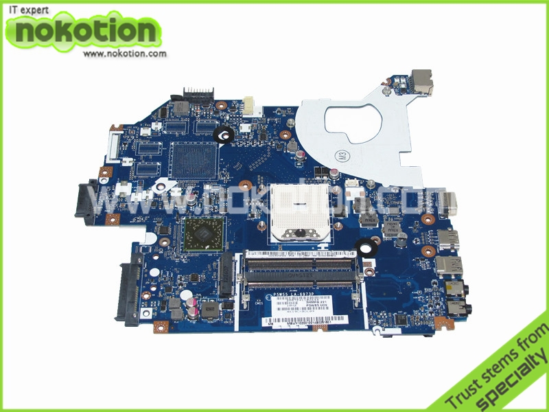 NOKOTION 3KMFG P5WS5 U09 MB.WY102.001 Laptop motherboard for Gateway NV55 NV55S main board LA-6973P MBWY102001 DDR3