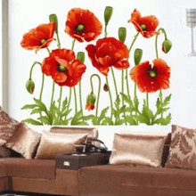 Flowers Removable Wall Stickers Decal Art Vinyl Flower Mural Home Room Decor DIY Decoration