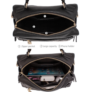Image 4 - MIYACO sac à main en cuir pour femmes, sac noir, sacs à bandoulière, sacoche pour dames, collection décontracté