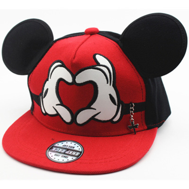 Genbitty Mickey Ear Hats Kids Spiderman Snapback   Caps     Baseball     Cap   With Ears Funny Hats Hip Hop Boy Hat Dropshipping