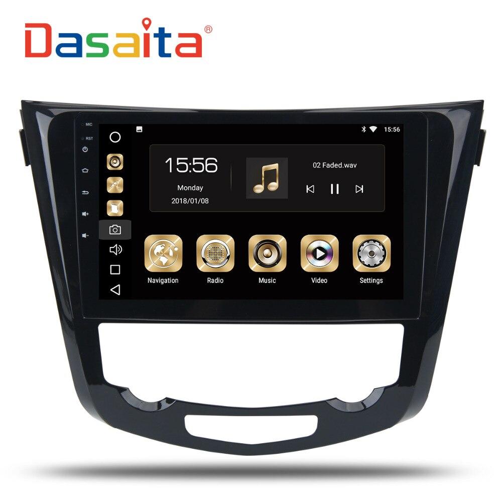 """Dasaita 10.2"""" андроид 8.0 GPS автомобиля Радио-проигрыватель для Ниссан х-Трейл Qashqail 2014 -2017 с octa ядро 4 ГБ+32 ГБ Мультимедиа стерео"""