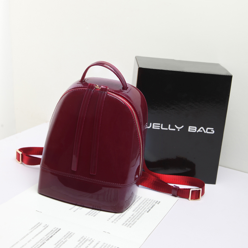 BENVICHED 2019 New Fashion Women Cute Silicone Backpack Female Travel Bags Girl School Candy Bag Lady Waterproof jelly Bag L027 in Backpacks from Luggage Bags