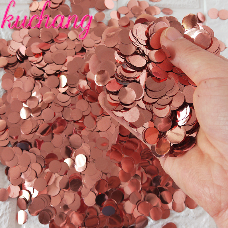 500g/1kg Premium 1cm Round confetti Party Table Confetti  gold black red Pink Baby Shower Wedding Birthday Party Decorations-in Banners, Streamers & Confetti from Home & Garden