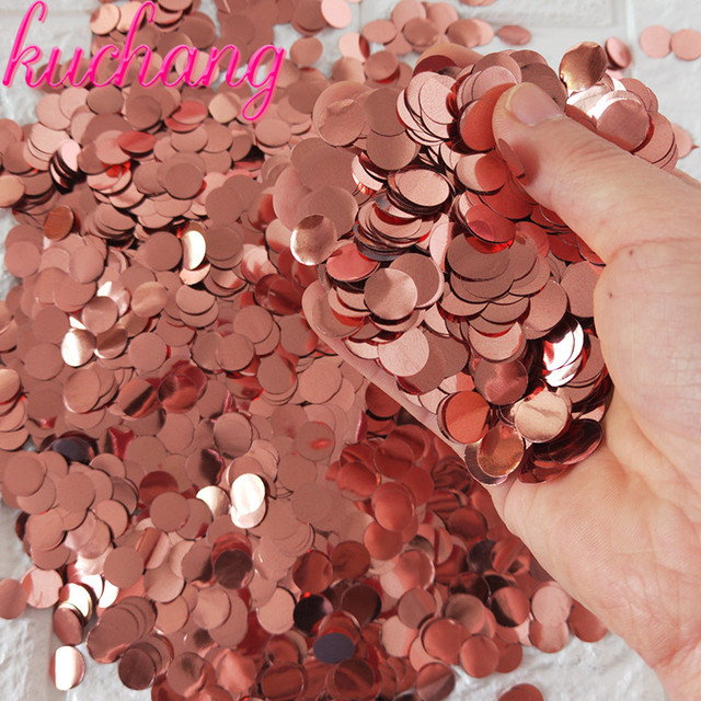 500g/1kg Premium 1cm Round confetti Party Table Confetti  gold black red Pink Baby Shower Wedding Birthday Party Decorations