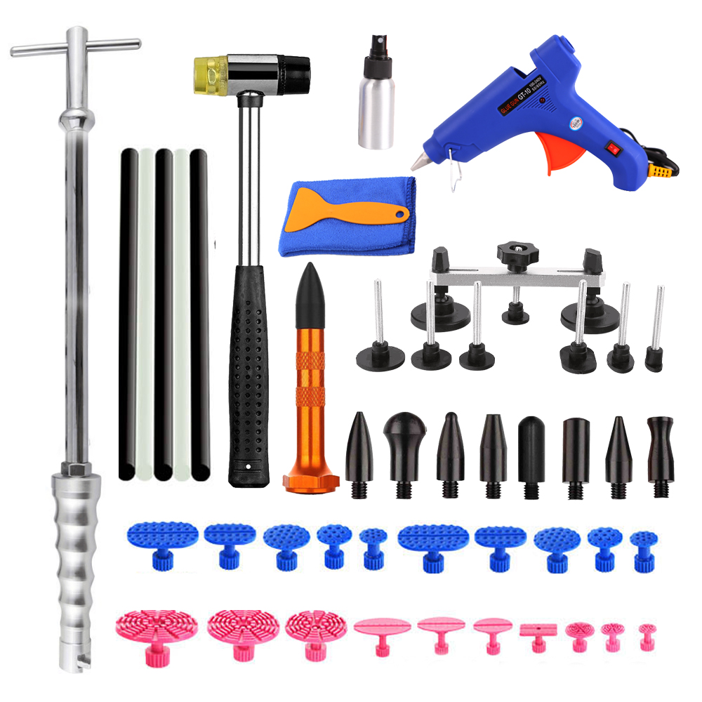 WHDZ PDR Tools Paintless Dent Repair Tools Dent Removal Dent Puller PDR Glue Tabs Glue Gun Hot Melt Glue Sticks pdr tool kit dent removal paintless dent repair tools straighten the dents bridge puller pulling bridge adhesive glue gun tools