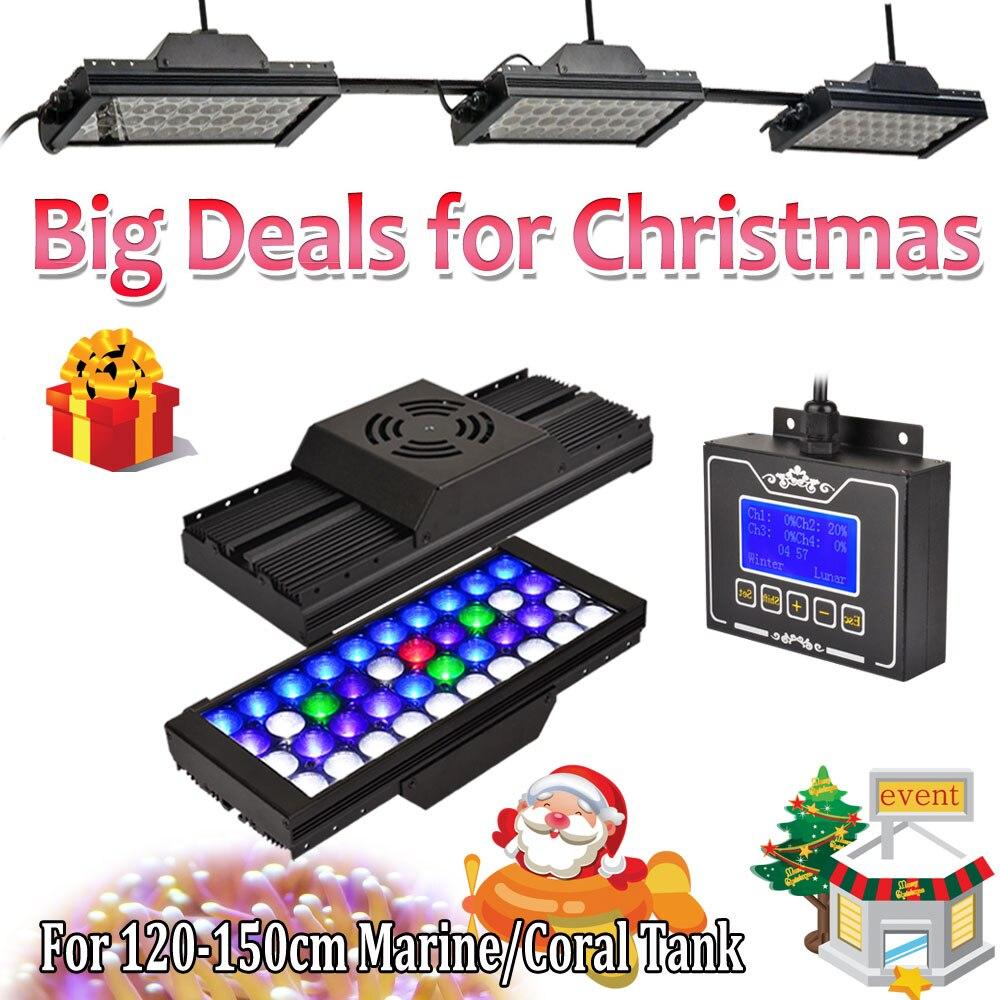 3 PCS DSunY Aqua 165W Dimmable Programmable LED Full Spectrum Grow Fish Tank Reef Coral Aquarium