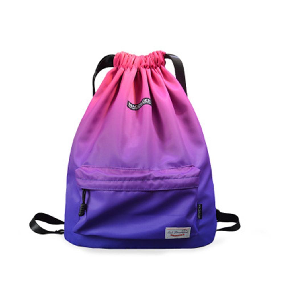 Waterproof Unisex Large Capacity Drawstring Bag Gym Shopping Sport Backpack