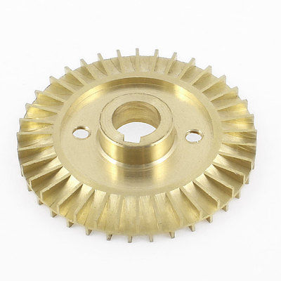 12mm Thickness 60 66 70 76 78 80 85 90mm OD 36 Teeth Brass Water Pump Impeller Copper Tone Double Side With Groove in Pumps from Home Improvement