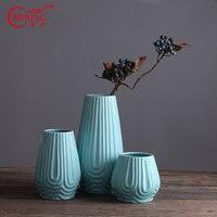 Hot Selling Chinese Handmade Antique Porcelain Vases Blue for Homes Garden Weddings Centerpieces Decorative Vase for Living Room