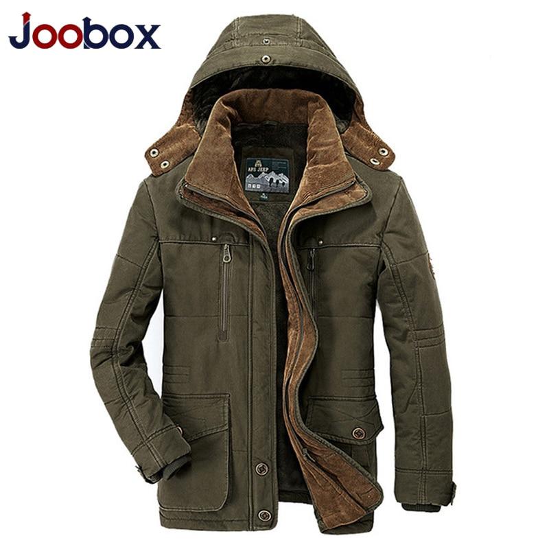 Hiver épaissir chaud à capuche Parka hommes grande taille 5xl kaki ArmyGreen militaire polaire veste hommes à capuche col hommes doudoune