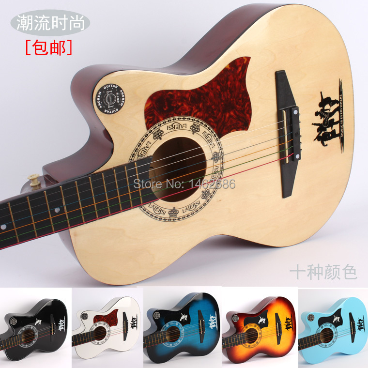 Qinandelu Brand New 38 Inch Color Beginner Guitar Folk Guitar Chord