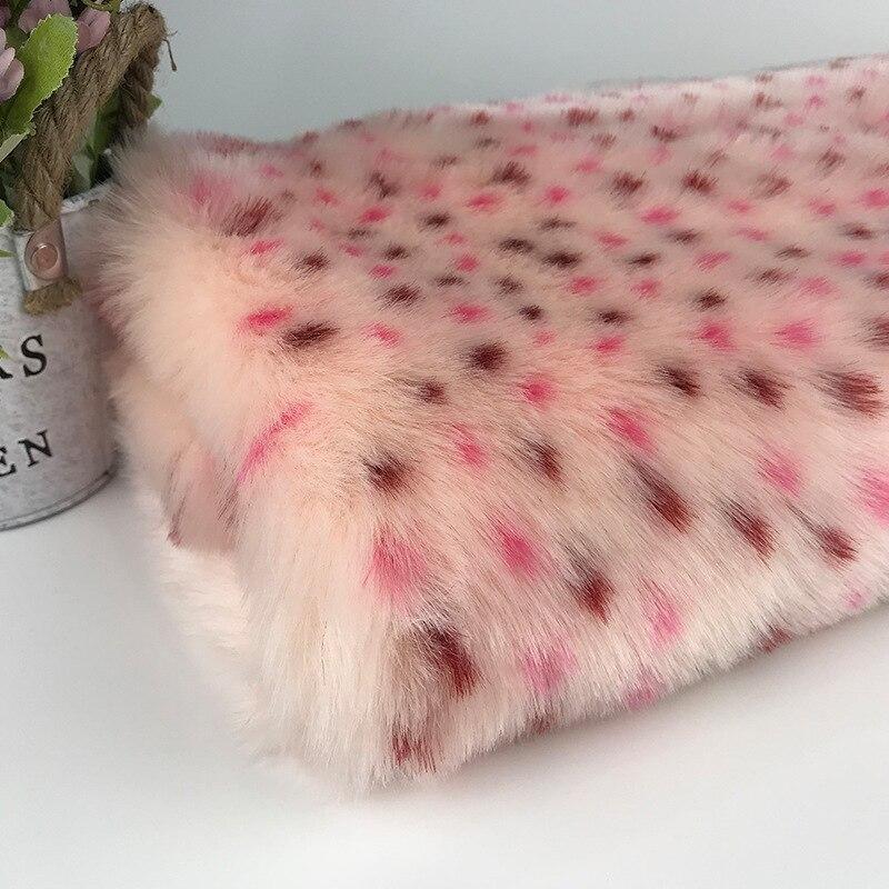 Tissu en fourrure de lapin jacquard, imitation fourrure de lapin, tissu en fourrure artificielle, textile à la maison, tissu pour chaussures