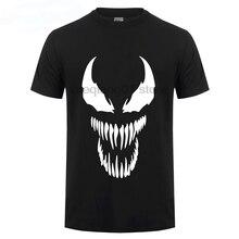 New Film Spider-man 2018 Venom t-shirt Spider man Skull men t shirt reflect light summer cotton Tees Tops