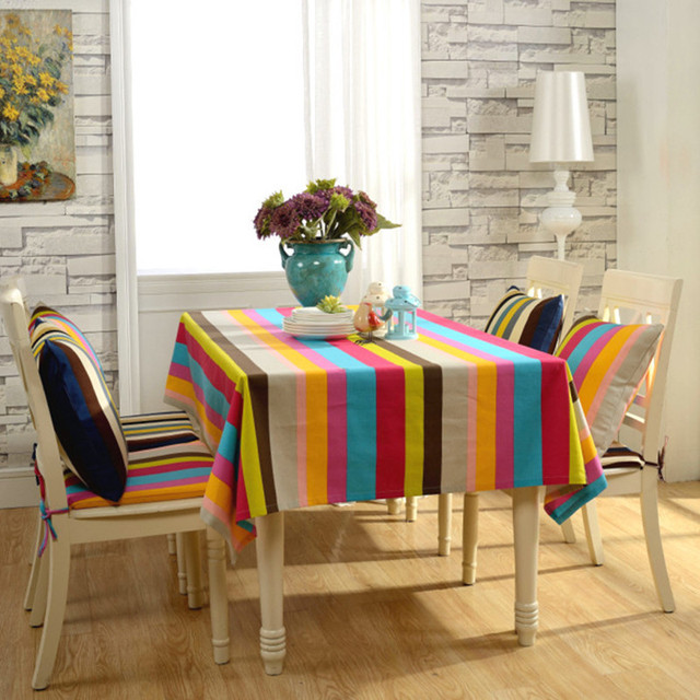Country Style Dining Chair Cushion Cover Cloth Canvas Bugaboo European Coffee Table Thick