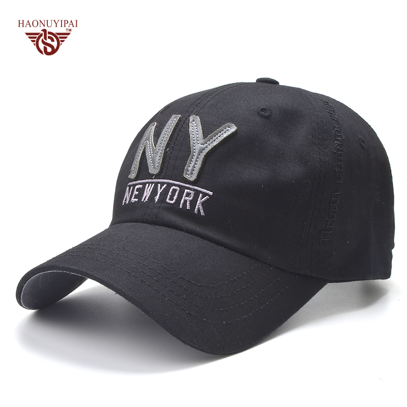 High Quality Cotton Baseball Cap For Men Women Cap Casual Hat NY Letter Snapback Caps Sun Hat Cool Adjustable Gorras high quality plain dyed sand washed 100% soft cotton cap sport hat gorras snapback cap outdoor sun hat for women caps