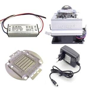 Image 5 - 50 ワット 60 ワットハイパワー LED チップ 660nm ディープ赤色 Led 成長ライト 660 nm Cob ダイオードエミッタ + ドライバ + ヒートシンク + クーラー + レンズリフレクター