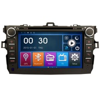 8 2DIN Car Stereo GPS HeadUnit DVD Playe Bluetooth For Toyota Corolla 2007 2010 DK8022