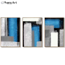 Hand-painted High Quality Modern Blue Gray Black Oil Painting on Canvas for Wall Art Decor New Style Abstract