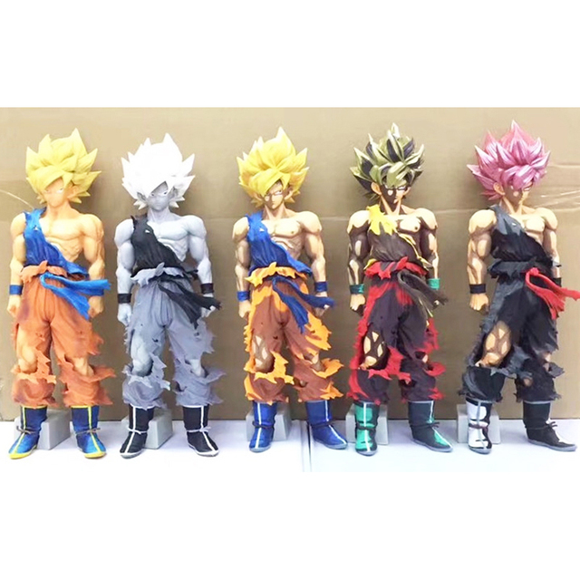 05f859398fc 34cm Dragon Ball Z MSP Super Saiyaman Son Goku Large Size Multi Comic Color  PVC Action Figure Collection Model Toy Doll