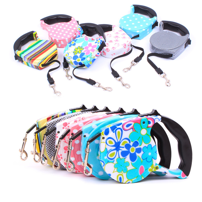 Hot Sale All Dogs And Cats Traction Automatically Scalable Pet Dog Leash  Wear Small Medium Large