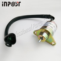 New Stop Solenoid 12V For Yanmar 4TNE88 4TNE84 Thermo King 41 6383 41 4306 1503ES 12S5SUC11S