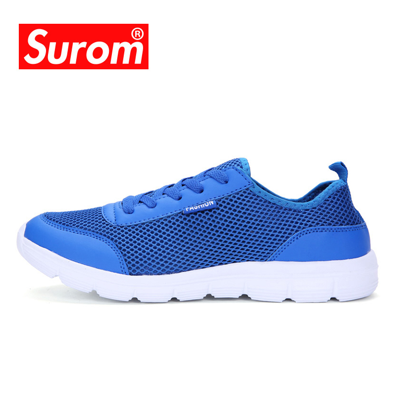SUROM Unisex Running Shoes Mesh Breathable Lightweight Sneaker Women&men Krassovki