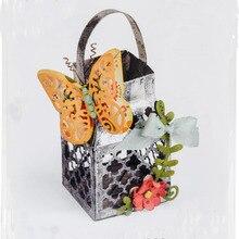 Ufurty Foldable basket butterfly Metal Cutting Dies Stencils Steel DIY Scrapbooking Craft Embossing Die Cuts Album Paper Card