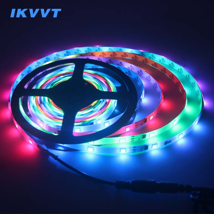 Enthusiastic Ikvvt Ws2811 Led Strip Light Ic Waterproof 5050rgb Led Light Strip 2811 Pixels Programmable Individual Addressable Dc12v Power Skillful Manufacture Led Strips Lights & Lighting