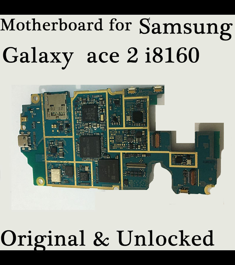 Test one by one 100 Working Unlocked Original Mainboard For Samsung galaxy ace 2 i8160 motherboard