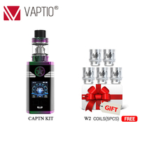 220w Electronic Cigarette VAPOR CAPTAIN Kit dual 18650 battery box mod 2.0ml atomizer Fitted TFV8 Baby Tank 510 thread Vape kit rofvape xer 90w electronic cigarette box mod fit 510 rdta atomizer tank exr vape battery
