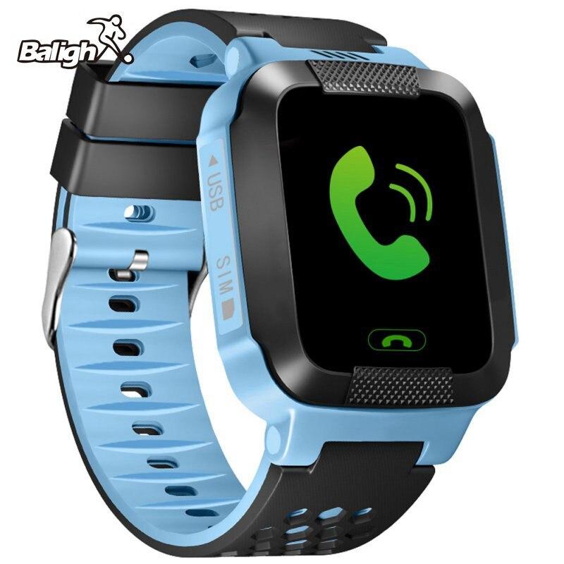 Kid Relógio de Posicionamento 1.22 polegada Cor da Tela de Toque WIFI GPS Do Telefone SOS Relógio Inteligente Bebê Encontrar Toque Smartwatch-para yusuf Subiu