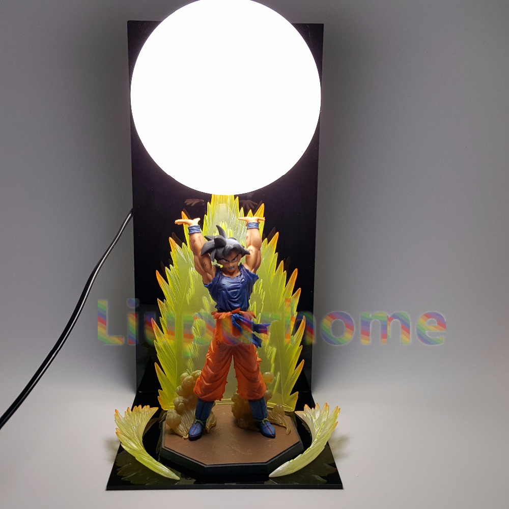 Dragon Ball Z Son Goku Spirit Strength Bomb Table Lamp Led Night Lights Anime Dragon Ball Super Son Goku DBZ Led Room Decorative anime dragon ball z golden shenron crystal ball led set dragon ball super son goku dbz led lamp night lights xmas gift