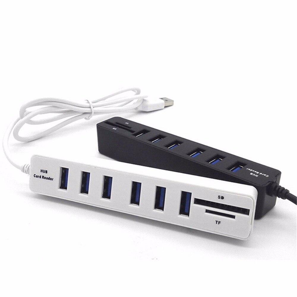 Аксессуары для компьютеров и ноутбуков USB 2,0 USB концентратор 2,0 Внешний 6 портов USB разветвитель с Micro USB порт питания для ПК ноутбука