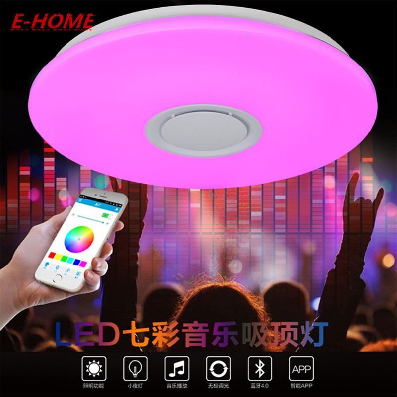 LED Ceiling Light Multi Color and Dimmable with Bluetooth APP and Sound Speaker for Living Room, Bedroom, Room